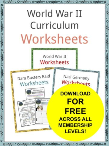 World War II Curriculum Worksheets