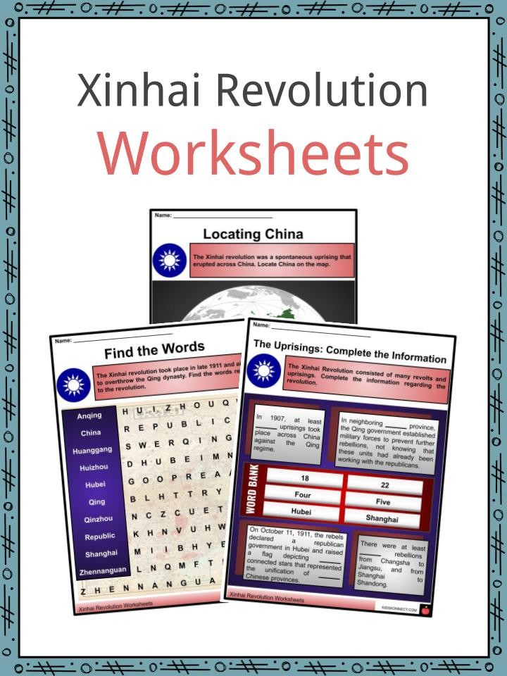 Xinhai Revolution Worksheets