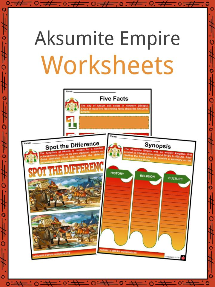 Aksumite Empire Worksheets