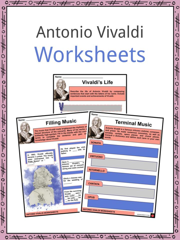 Antonio Vivaldi Worksheets