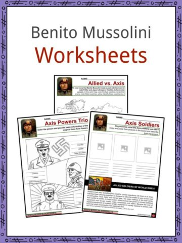 Benito Mussolini Worksheets