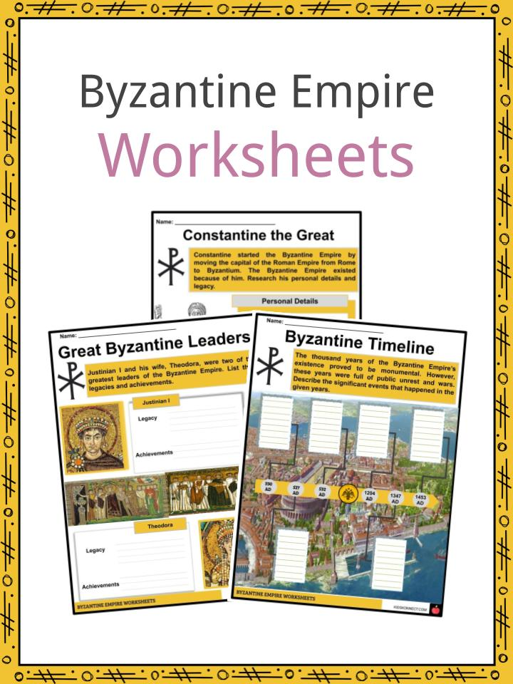 Byzantine Empire Worksheets