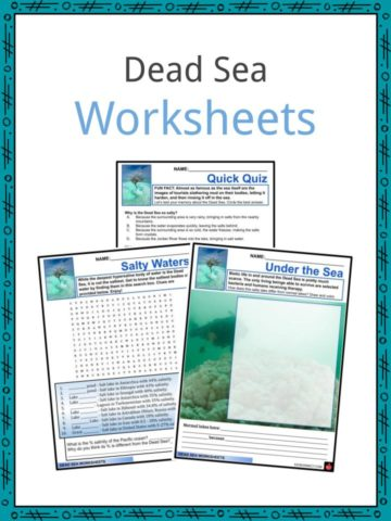 Dead Sea Worksheets