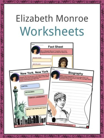 Elizabeth Monroe Worksheets