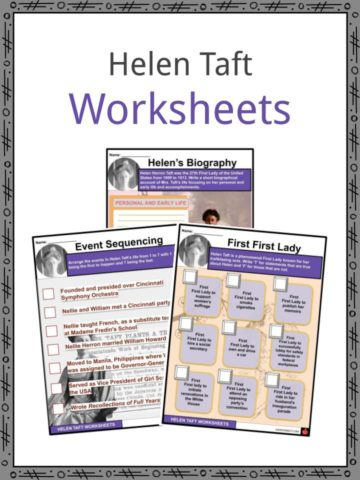 Helen Taft Worksheets