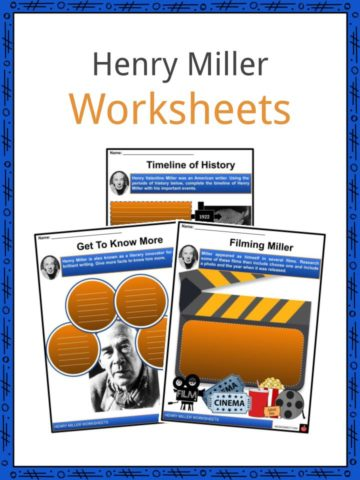 Henry Miller Worksheets