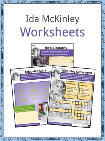 Ida McKinley Worksheets