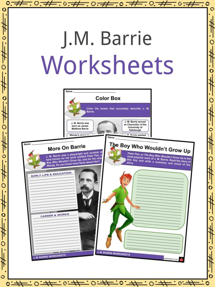 J.M. Barrie Worksheets