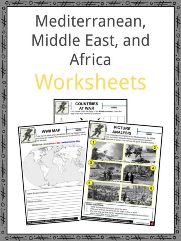 Mediterranean, Middle East and Africa Worksheets