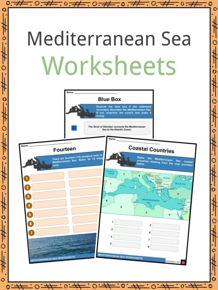 Mediterranean Sea Worksheets