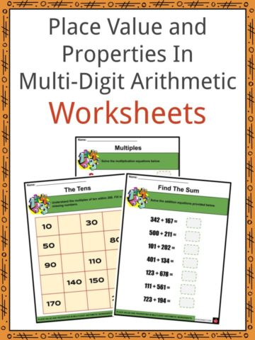 Place Value and Properties In Multi-Digit Arithmetic Worksheets