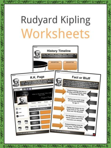 Rudyard Kipling Worksheets