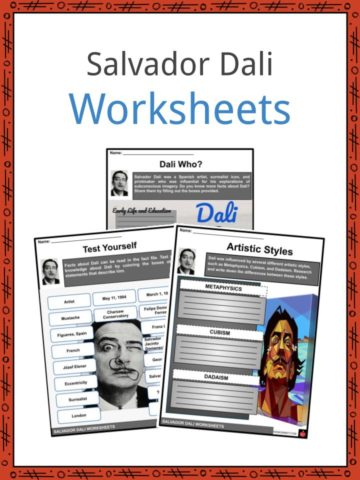 Salvador Dali Worksheets
