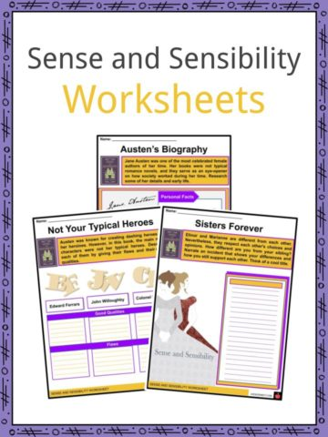 Sense and Sensibility Worksheets