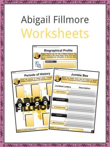 Abigail Fillmore Worksheets