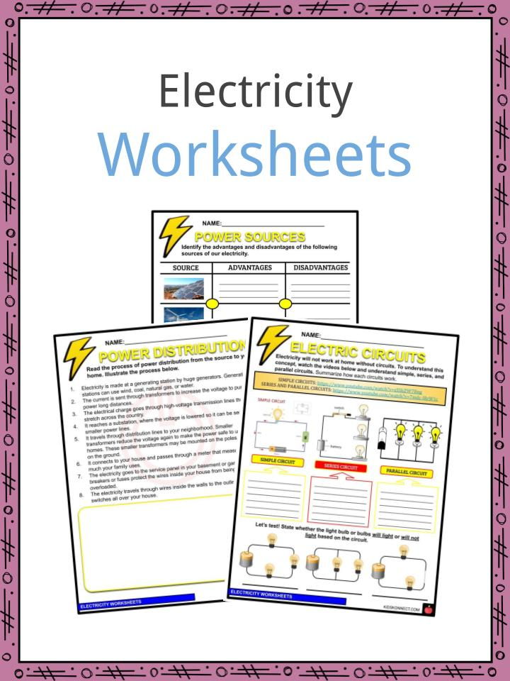 Electricity Worksheets