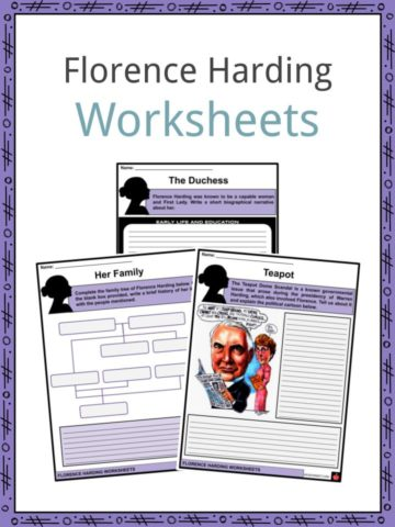 Florence Harding Worksheets