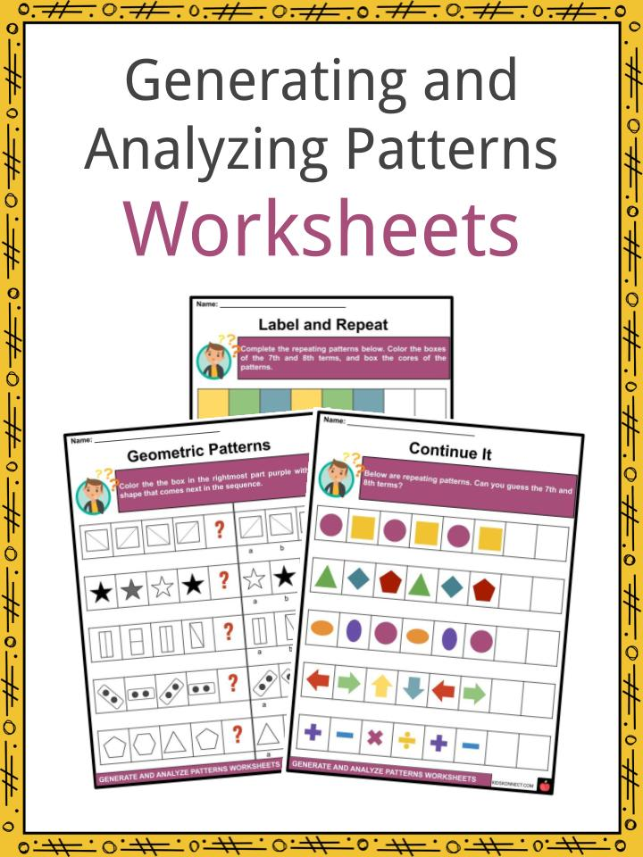 Generating and Analyzing Patterns Worksheets