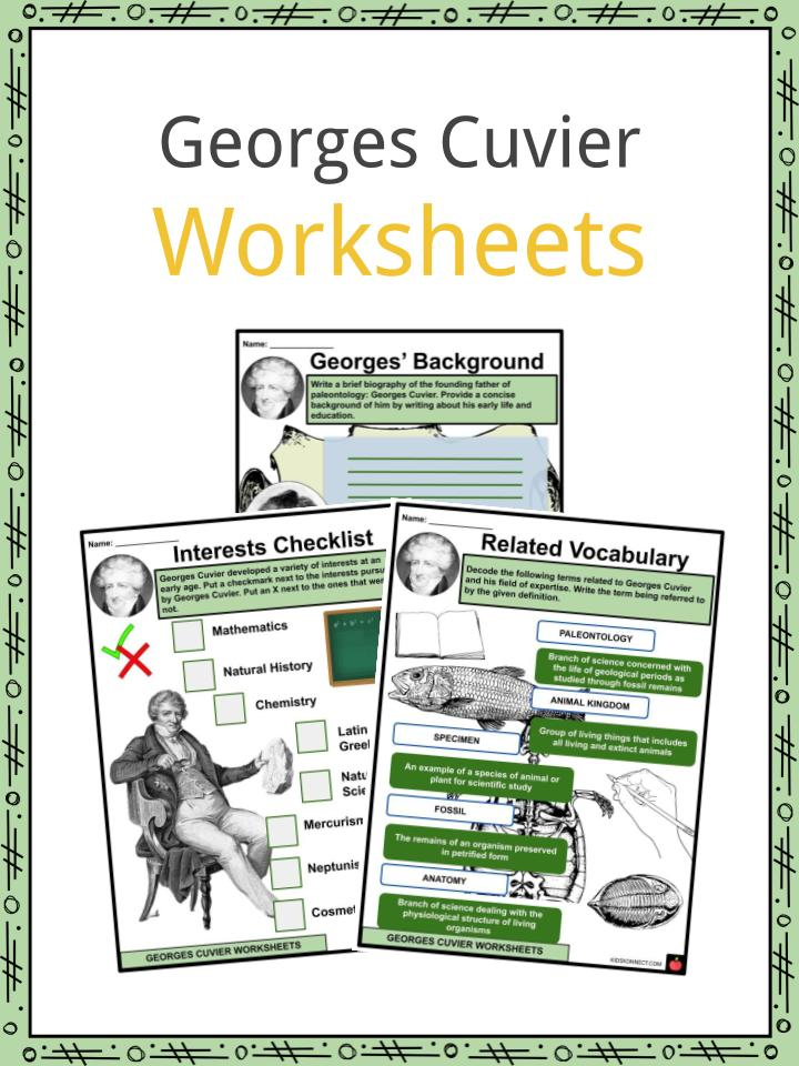 Georges Cuvier Worksheets