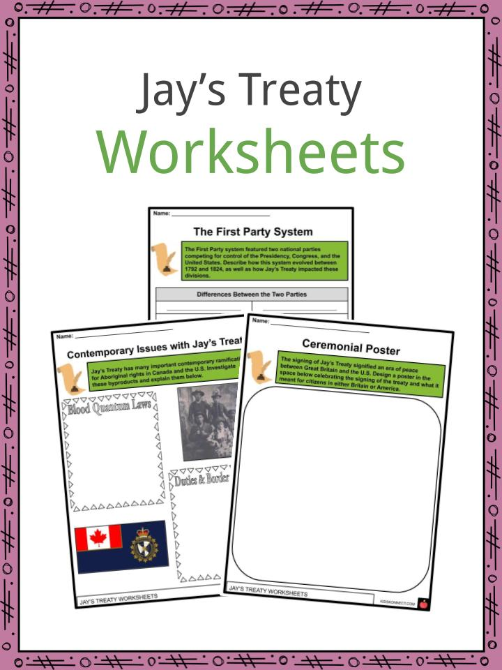 Jay's Treaty Worksheets