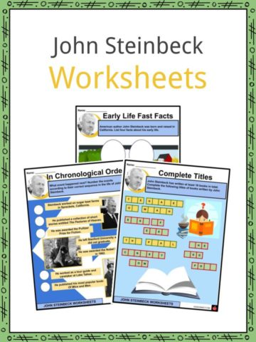 John Steinbeck Worksheets