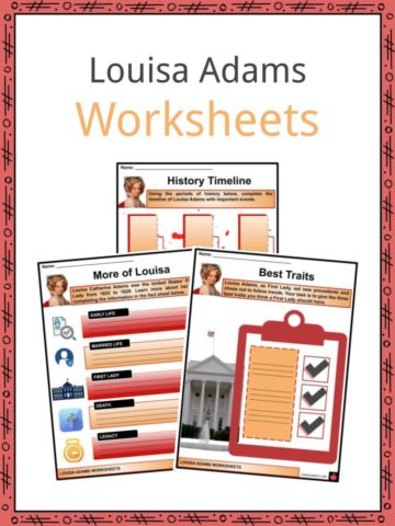 Louisa Adams Worksheets