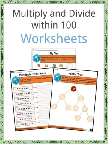 Multiply and Divide within 100 Worksheets