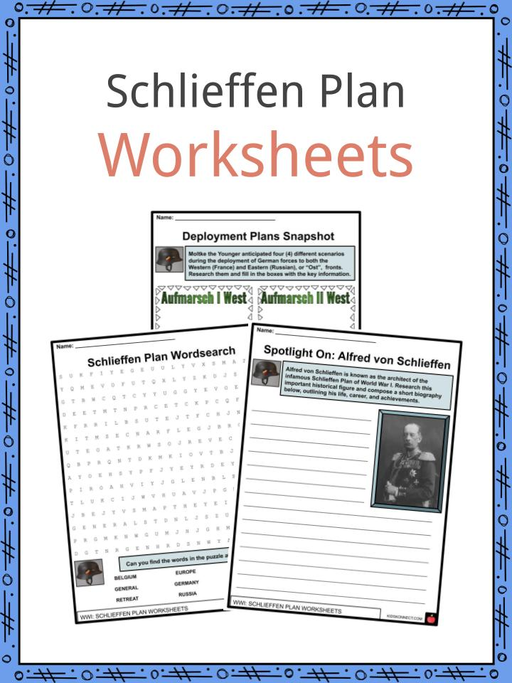 Schlieffen Plan Worksheets