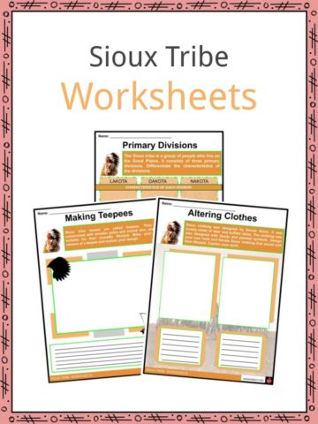 Sioux Tribe Worksheets