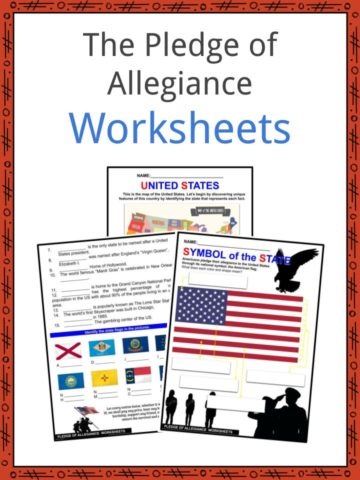 The Pledge of Allegiance Worksheets