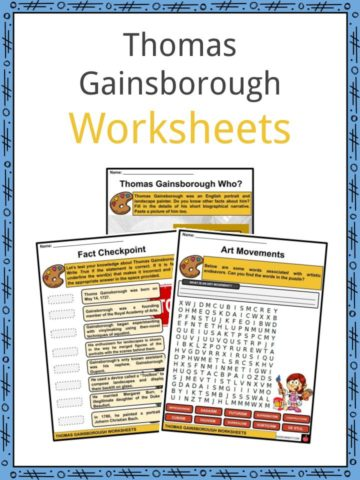 Thomas Gainsborough Worksheets