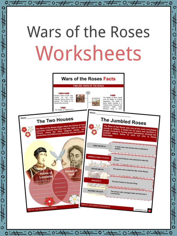 Wars of the Roses Worksheets