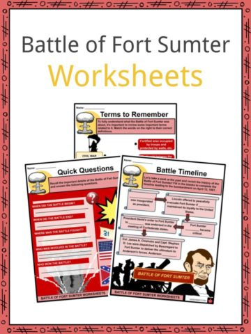 Battle of Fort Sumter Worksheets