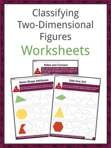 Classifying Two-Dimensional Figures Worksheets