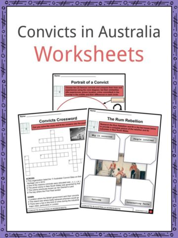 Convicts in Australia Worksheets