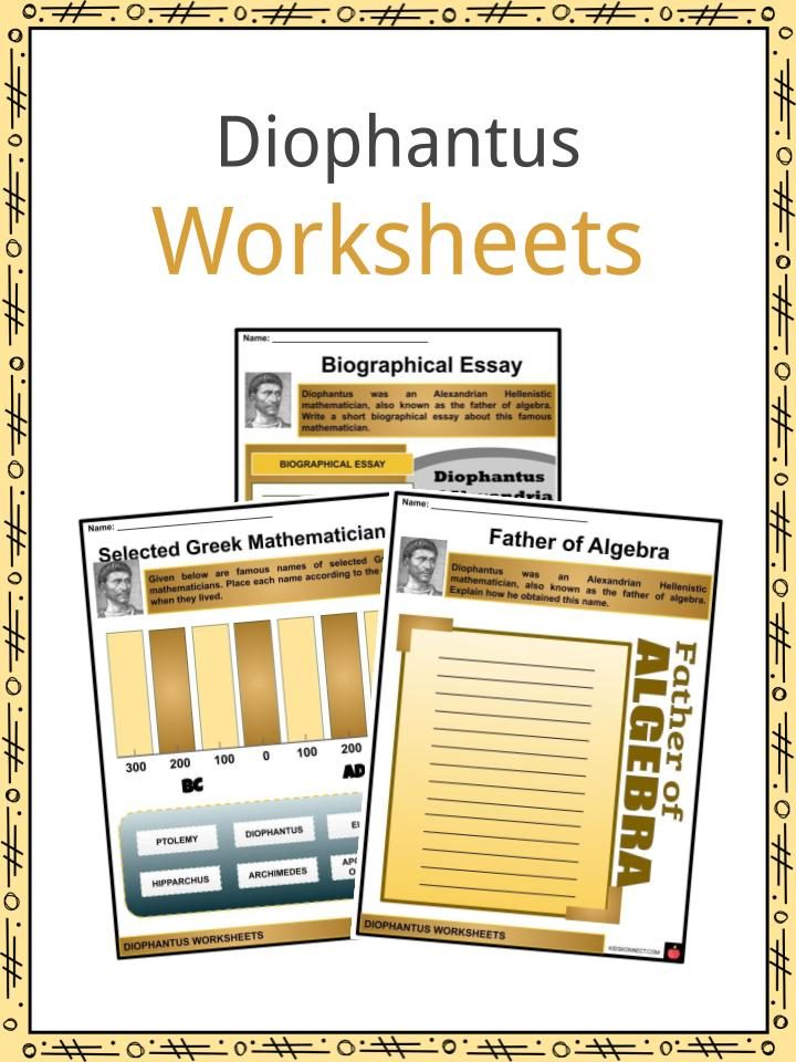 Diophantus Worksheets