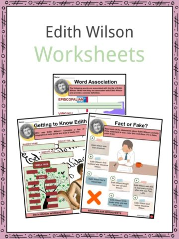 Edith Wilson Worksheets