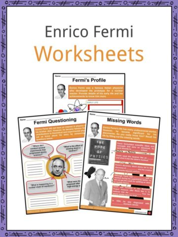 Enrico Fermi Worksheets