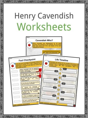 Henry Cavendish Worksheets
