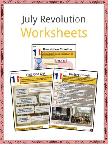 July Revolution Worksheets
