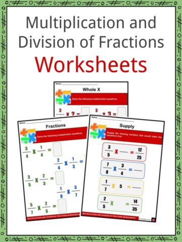 Multiplication and Division of Fractions Worksheets