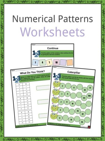 Numerical Patterns Worksheets