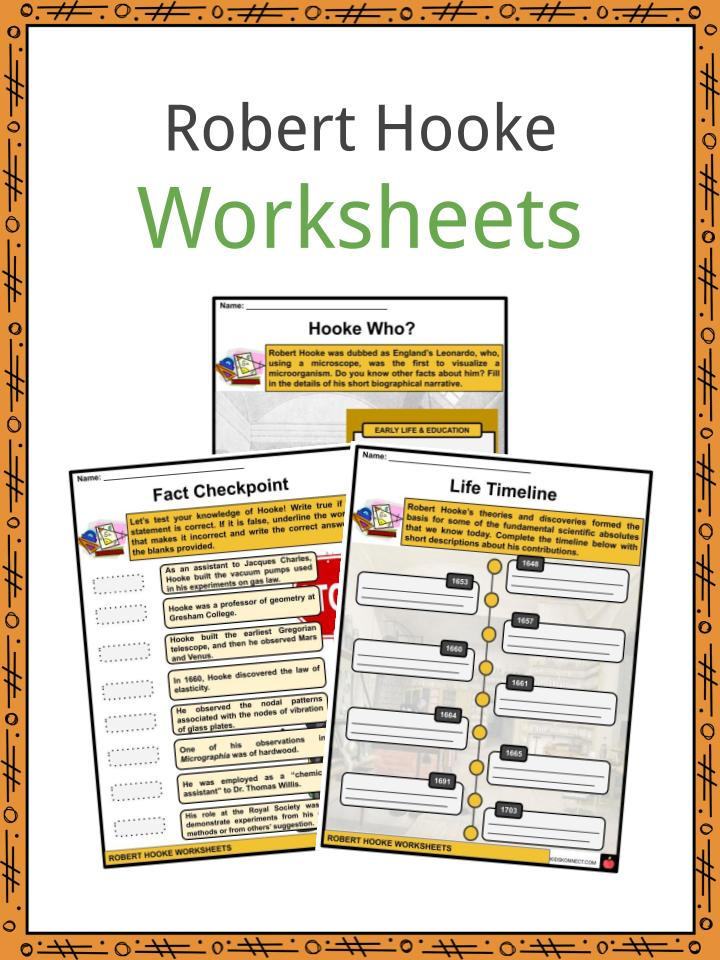 Robert Hooke Worksheets