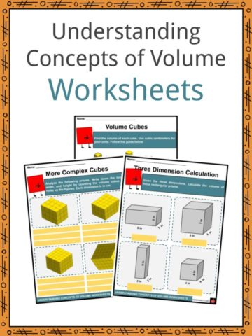 Understanding Concepts of Volume Worksheets
