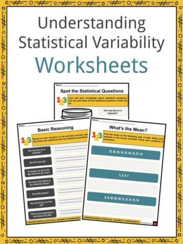 Understanding Statistical Variability Worksheets