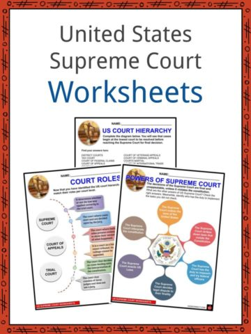 United States Supreme Court Worksheets
