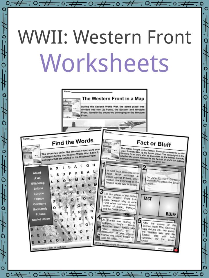 WWII Western Front Worksheets