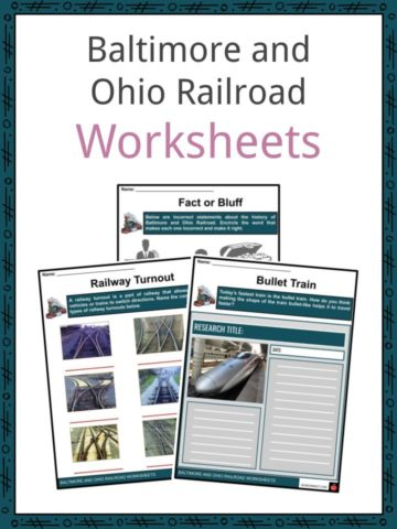 Baltimore and Ohio Railroad Worksheets