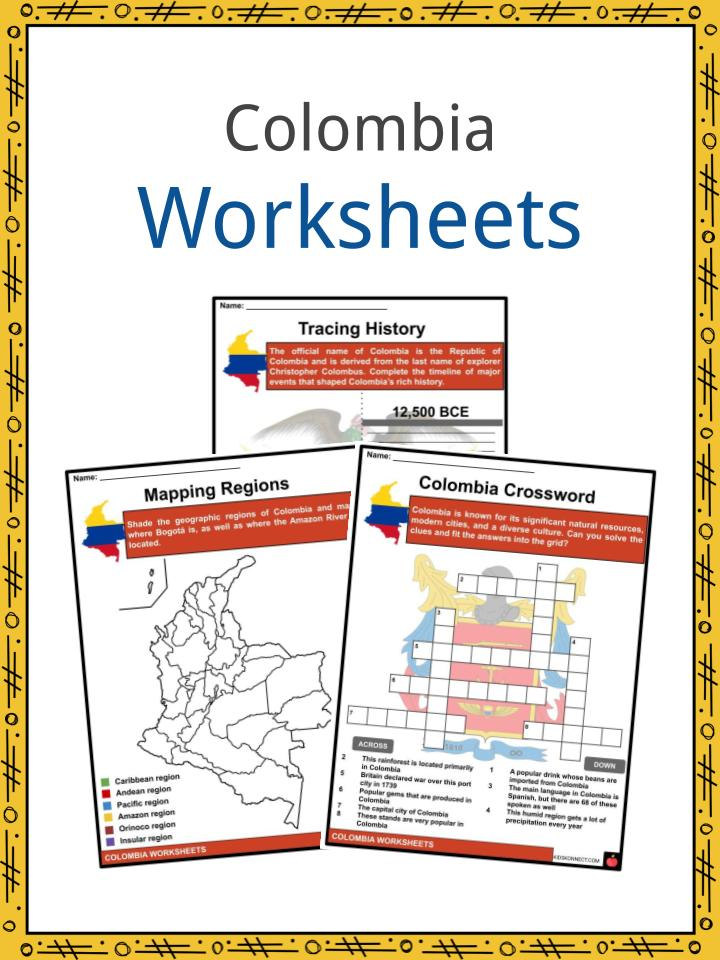 Colombia Worksheets