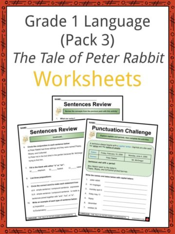 Grade 1 Language Pack III The Tale of Peter Rabbit Worksheets